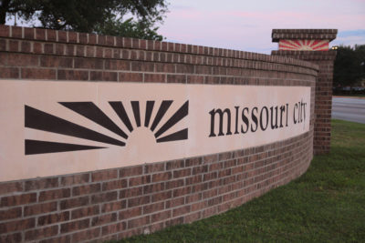 City Sign for Missouri City TX